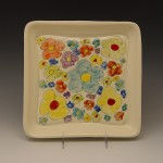 Many Flowers Square Plate