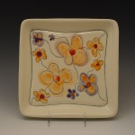 Flowered Square Plate 2
