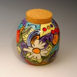 Hand-Painted Jar