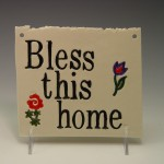 """Bless this home"" Wall-Hanging"