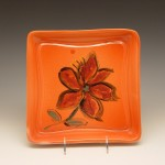 Flowered Square Plate