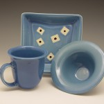 Square Plate Set in Blue
