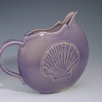 Shell Disk Pitcher in Lilac