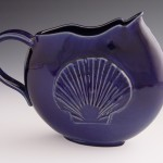 Shell Disk Pitcher in Blue