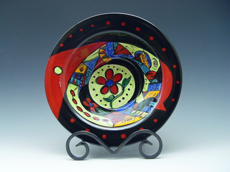 Hand-Painted Serving Bowl