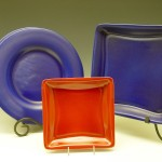 Dinner plate, square tray, square plate