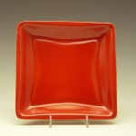 Square Plate in Red
